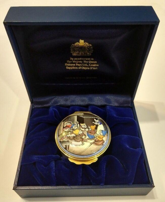 Halcyon Days Enamel Disney NUMBERED LG BOX - Snow White & 7 Dwarfs Seven Dwarves