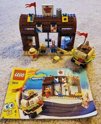 Lego Spongebob Krusty Krab Adventures #3833; 100% Complete w Minifigures/Book