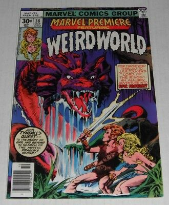 Marvel Premiere # 38...VF-  7.5 grade--A...1977 movie comic book..1st Weirdworld