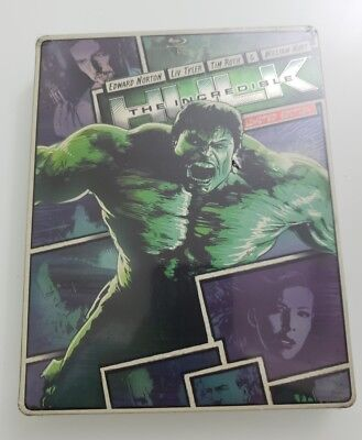 The Incredible Hulk (Blu-ray/DVD, 2013) Limited Edition Steelcase New