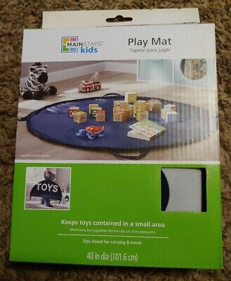 Mainstays Kids Baby Play Mat | Indoor Outdoor Portable Play Area | Zips Close
