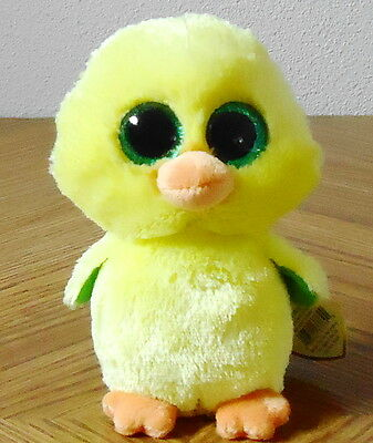 """Ty Beanie Boos Nugget the Chick 6"""" MWMT Easter 2017 Exclusive"""