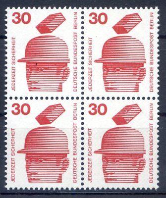BERLIN MI NR 406 4ER BLOCK 30 UNFALLVERH TUNG I POSTFRISCH 1971
