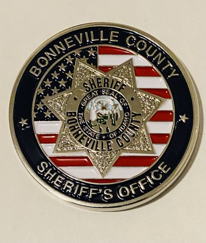 Sought After-Unique-Bonneville County Idaho Sheriff -Police Challenge Coin