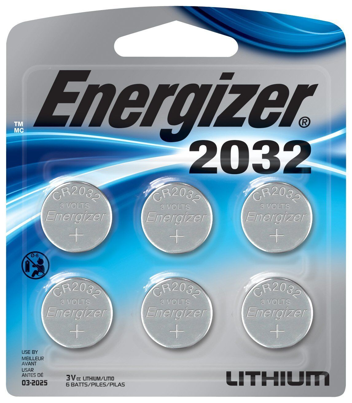 Energizer - Cr2032 Batteries  - Silver