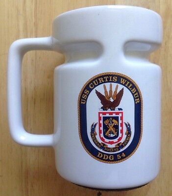 USS CURTIS WILBUR DDG-54 DDG54 US NAVY COFFEE MUG with STOPPER, NEW