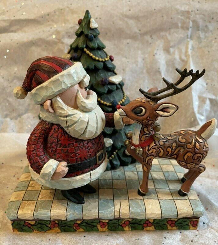 "Jim Shore ""Rudolph and Santa"" Enesco figurine, 2007"