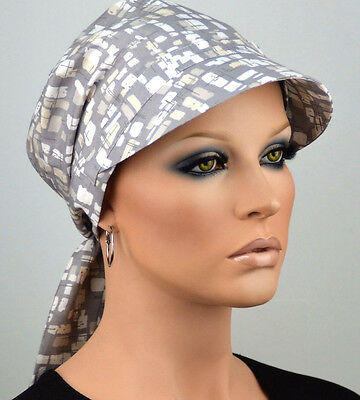 ELEGANCA SCHIRMMÜTZE SOMMER KAPPE Chemo Sonnencap Kopftuch Schirm Cappy Alisa