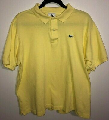 Men's LaCoste Short Sleeve Polo Shirt Pale Yellow Size 7 (XL)