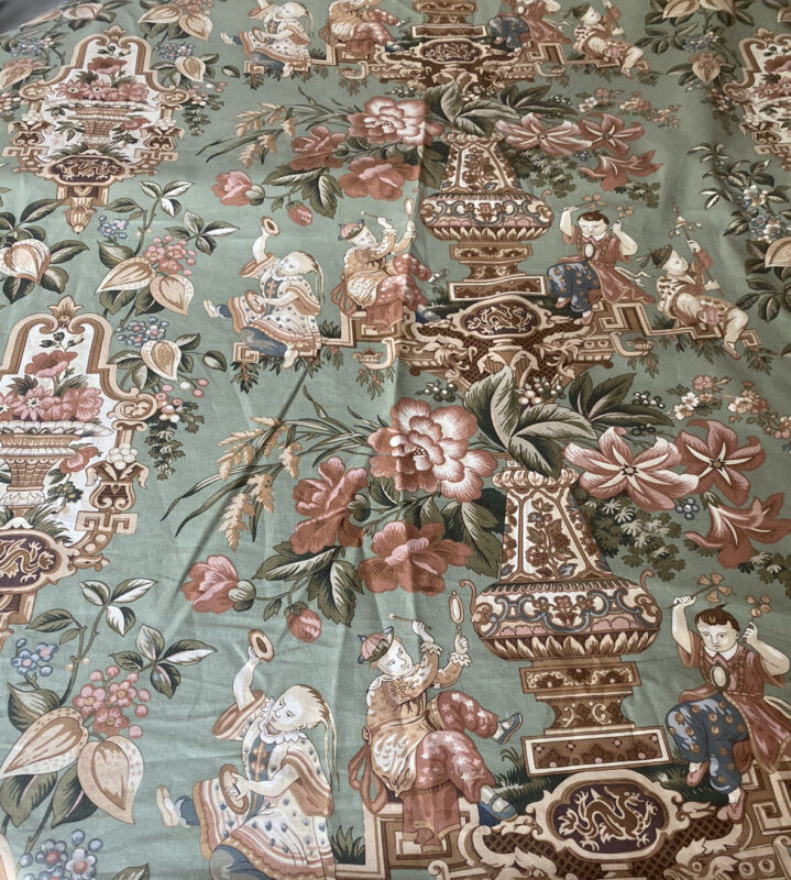 Brunschwig & Fils Chinoiserie Fabric 16 YDS Flower Drum Song Titley And Marr
