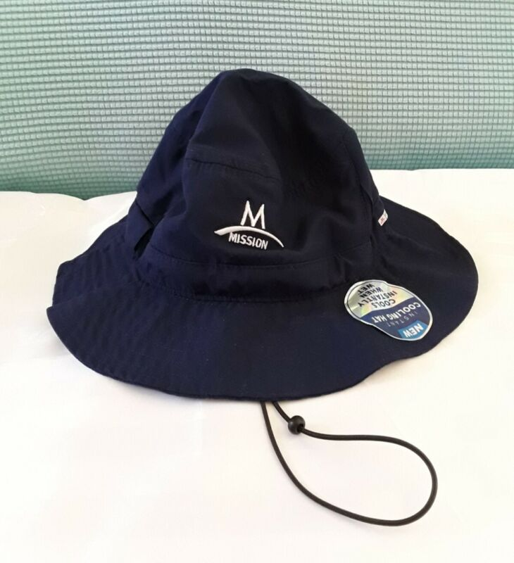 Mission Instant Cooling Hat, Cools Instantly When Wet, New, Navy Blue