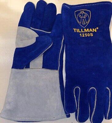 Tillman 1250 S Welding Gloves Blue Gray