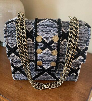 KOORELOO Epiphany Maxima handbag Rhombus grey/gray knot bronze-tone chain NEW