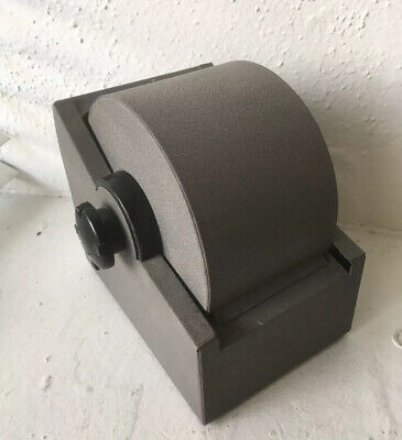 Vintage Metal Rolodex Zephyr American Corp Large Roll Top Rotary With Cards