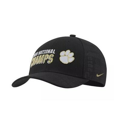 Clemson Tigers Nike Cap College Football National Champions Locker Room Hat NWT College Football Locker Room