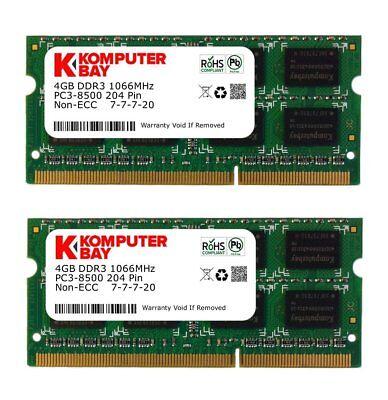 2x 4GB Ram Speicher   DDR3   für MacBook 6,1 7,1 2009 2010 Apple 1067 Mhz