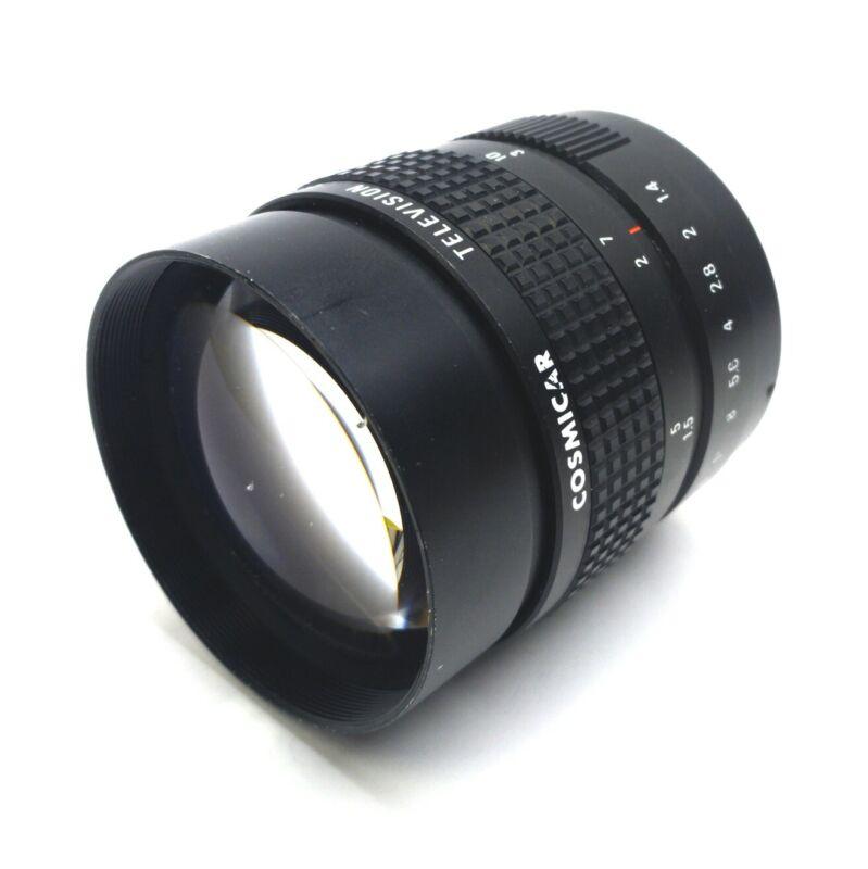 COSMICAR Machine Vision Televisions Lens, 75mm, 1.2-15m∞, f/1.4-16C, C-Mount