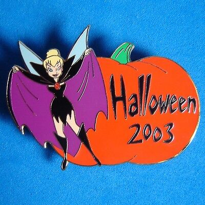 Tinker Bell Dressed as Vampire Halloween Disney Auctions Pin LE 100 Pumpkin - Tinkerbell Halloween Pumpkin