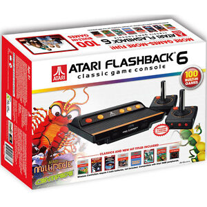 ATARI 2600 FLASHBACK 6 CONSOLE 2 WIRELESS JOYSTICKS 100 GAMES BUILT-IN NEW
