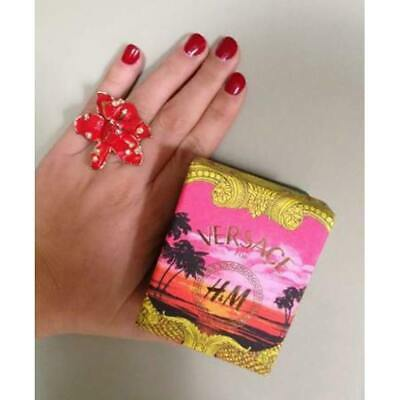 VERSACE x H&M Red Flower Ring Size M *BNWB* RRP £20
