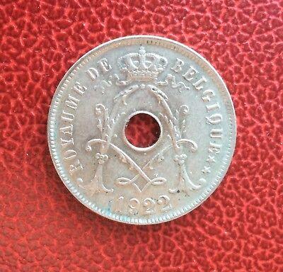 Belgique - Albert Ier - Magnifique monnaie de 25 Centimes 1922  FR