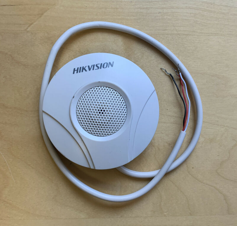 Hikvision Microphone DS-2FP2020 Small Round White