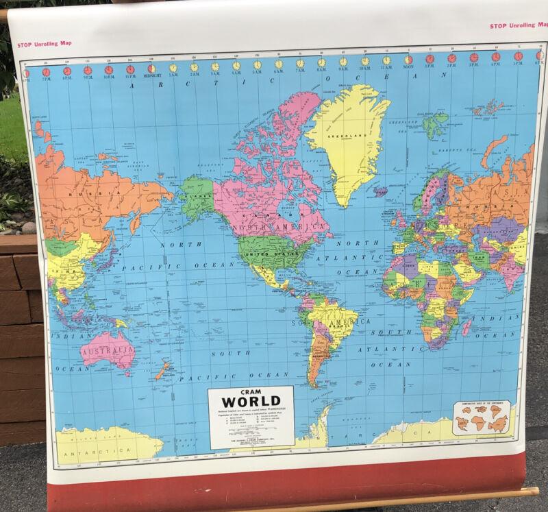 CRAM PULL DOWN SCHOOL MAPS