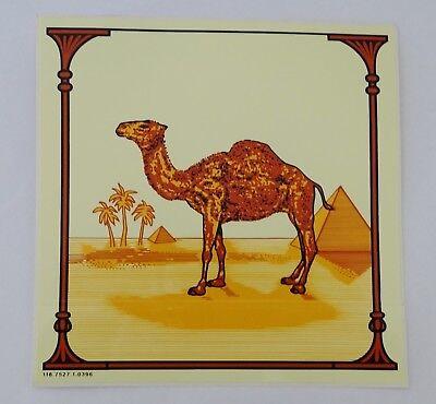 Aufkleber CAMEL Logo Werbung Kamel ohne Worte Kiosk Schaufenster 80er Sticker