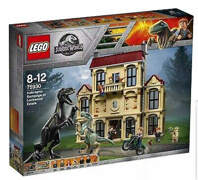 LEGO Jurassic World 75930 Indoraptor Rampage at Lockwood Estate 2018 New Sealed
