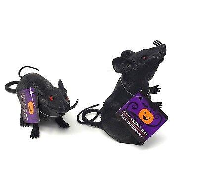 Black Rat Halloween Decoration Haunted House Creepy Rodents Realistic Plastic ](Creepy Halloween Decoration)