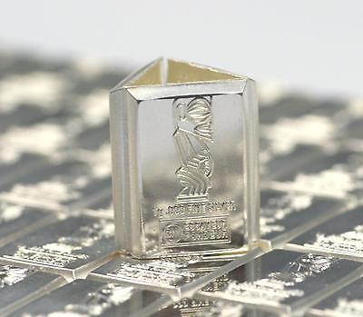 Silberbarren pures Silber 1 Gramm 99,9%  Barren 1g aus Münztafel Anlagesilber