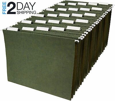 Amazonbasics Hanging File Folders - Letter Size Green 25-pack