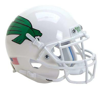 North Texas Football - North Texas Mean Green Alternate White Schutt Authentic Mini Football Helmet
