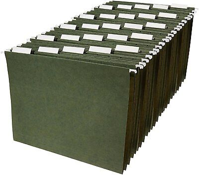 Filing Office Cabinet File Folders Hanging Document Holder Letter Tabs 25 Insert