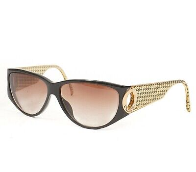 Rare Auth Vtg CHRISTIAN DIOR Gold Houndstooth Coin Sunglasses Made In Germany