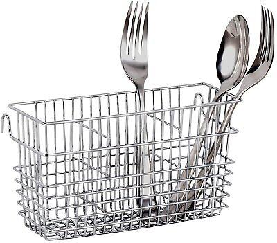 Utensils Drying Rack Basket Holder Drainer Wire Silverware Forks Spoons Knives