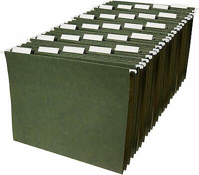 Hanging Organizer File Cabinet Folders Letter Size Green 25-pack Folder Hanger