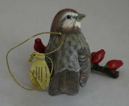 Danbury Mint SONG SPARROW Songbird Christmas Ornament