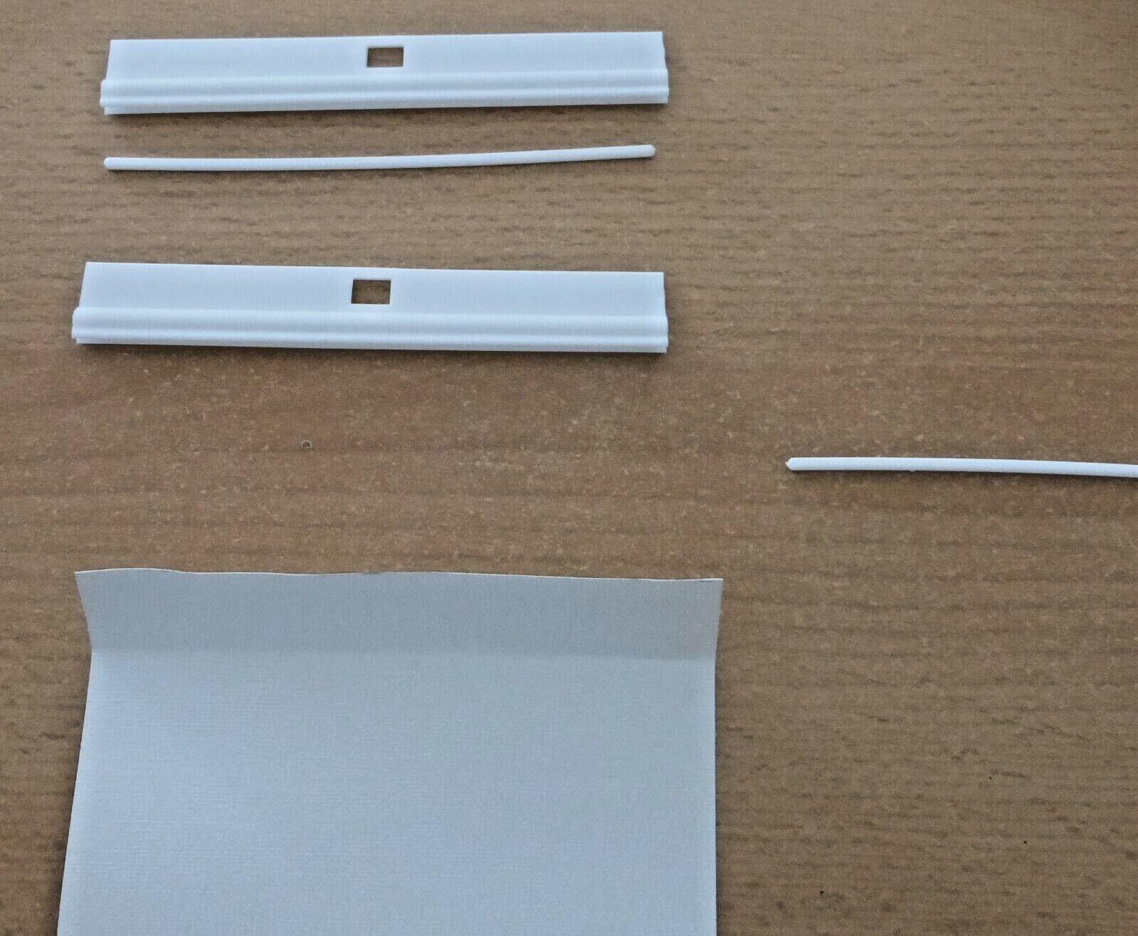10 Lamellenhalter 127 mm zum Kürzen Lamellenvorhang/Vertikal-Jalousie Rollo weiß