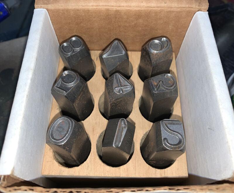 "C.H. Hanson 1/2"" Number Set Steel, 5/8"" Shank"