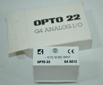 Opto 22 G4 Analog -10 To 10 Vdc Input Module Model G4ad12