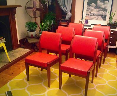 SOLD - 6 Retro Mid Century Dining Chairs Petersham Marrickville Area Preview