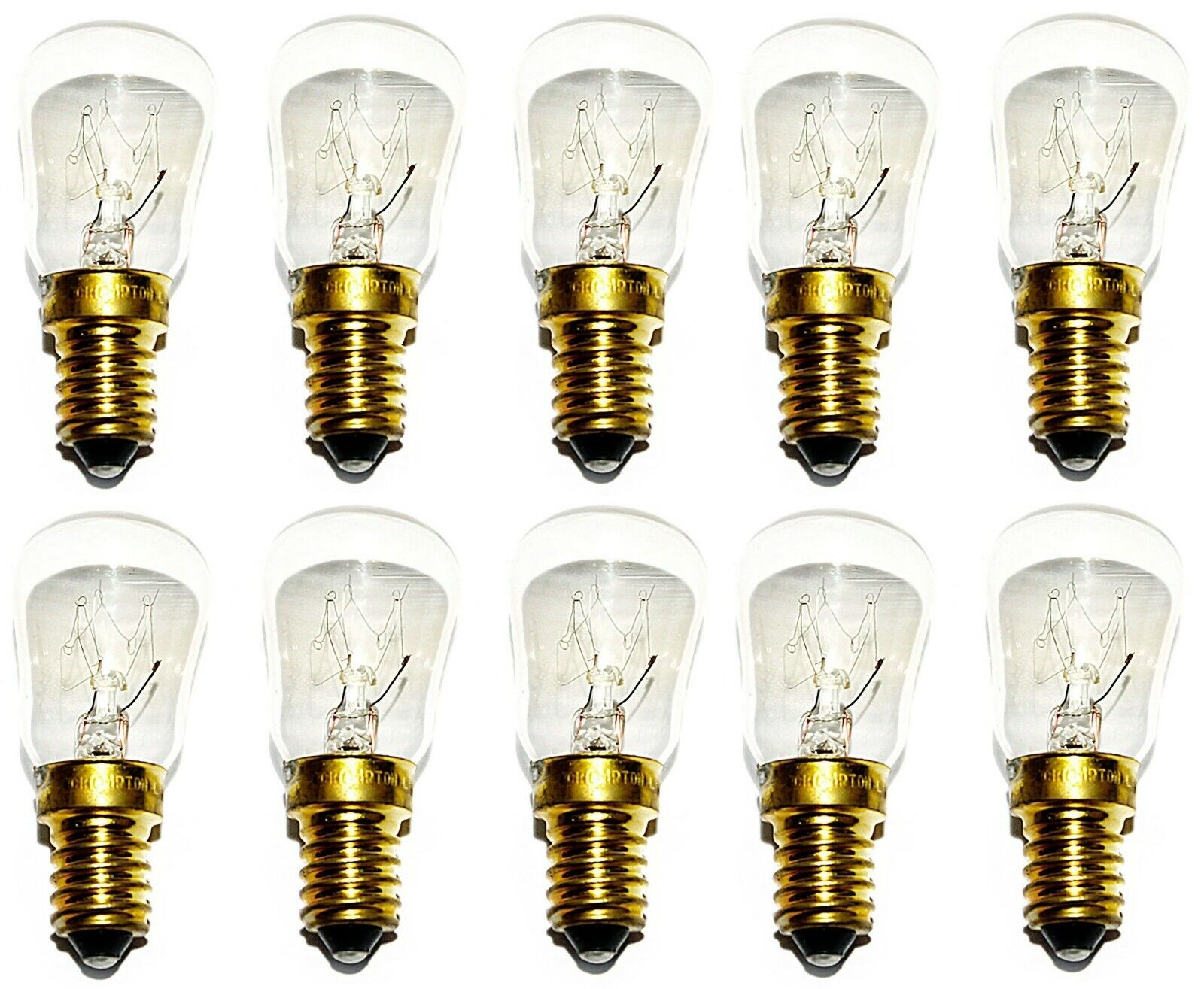 10 x 25w Watt SES E14 Microwave Oven Appliance Fridge Pygmy Screw in Light Bulbs