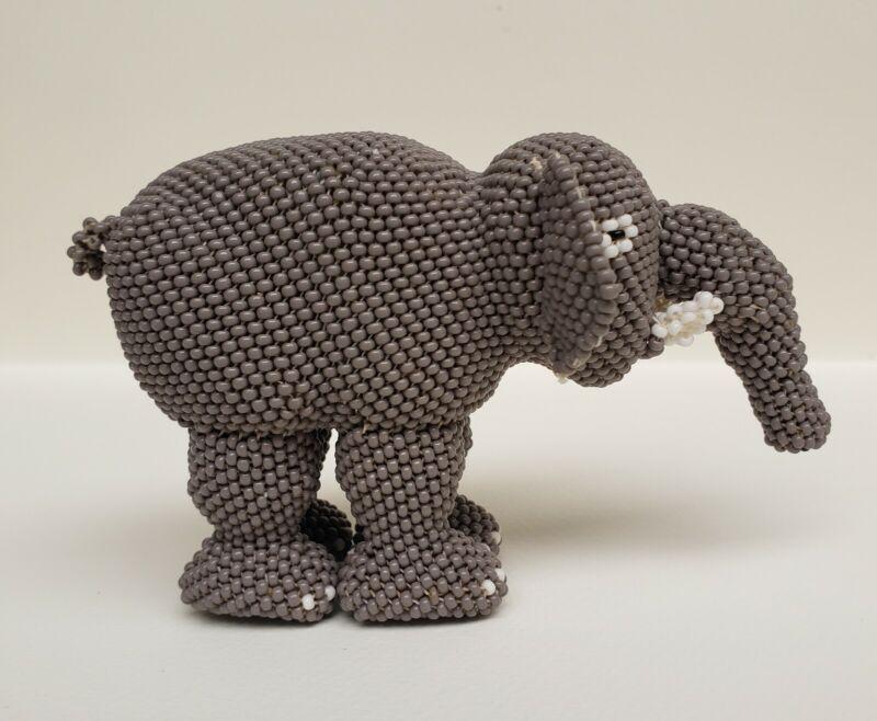 Zuni Beaded Figurine - Elephant