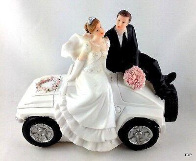 Hochzeitspaar Auto Brautpaar Tischfigur Dekorationsfigur Tortenfigur Hochzeit (Autos Tischdekoration)