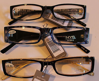 NYS Reading Glasses 2.00 Strength Gorgeous Designs and Colored (Nys Glasses)