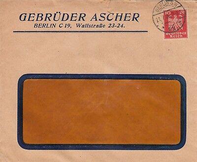 BERLIN, Briefumschlag 1926, Gebrüder Ascher