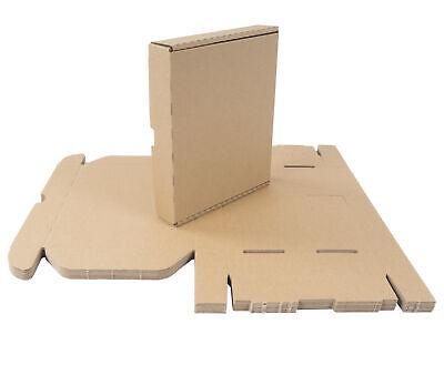 10 Cajas Cartón 22x18x4 CM de Envío Plegable Grande