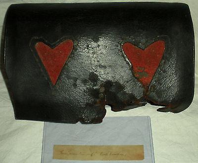 c1776 REVOLUTIONARY WAR CARTRIDGE BOX FABRIC HEARTS FROM UNIFORM N WRENTHAM vafo