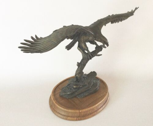 SOVEREIGN OF THE SKIES Bronze EAGLE Statue Van Ruyckevelt Franklin Mint 1990s